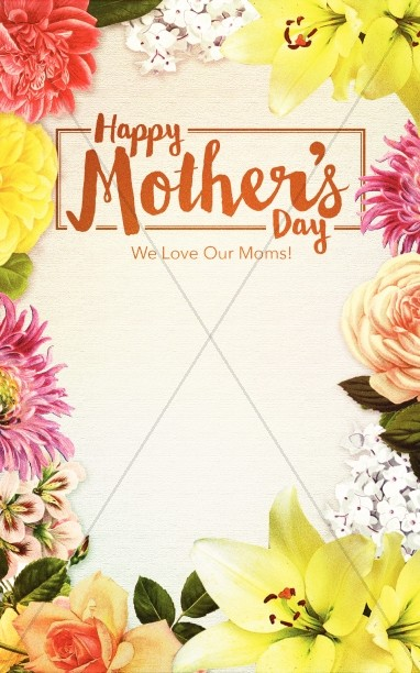 Happy Mother's Day Love Christian Bulletin Mothers Day