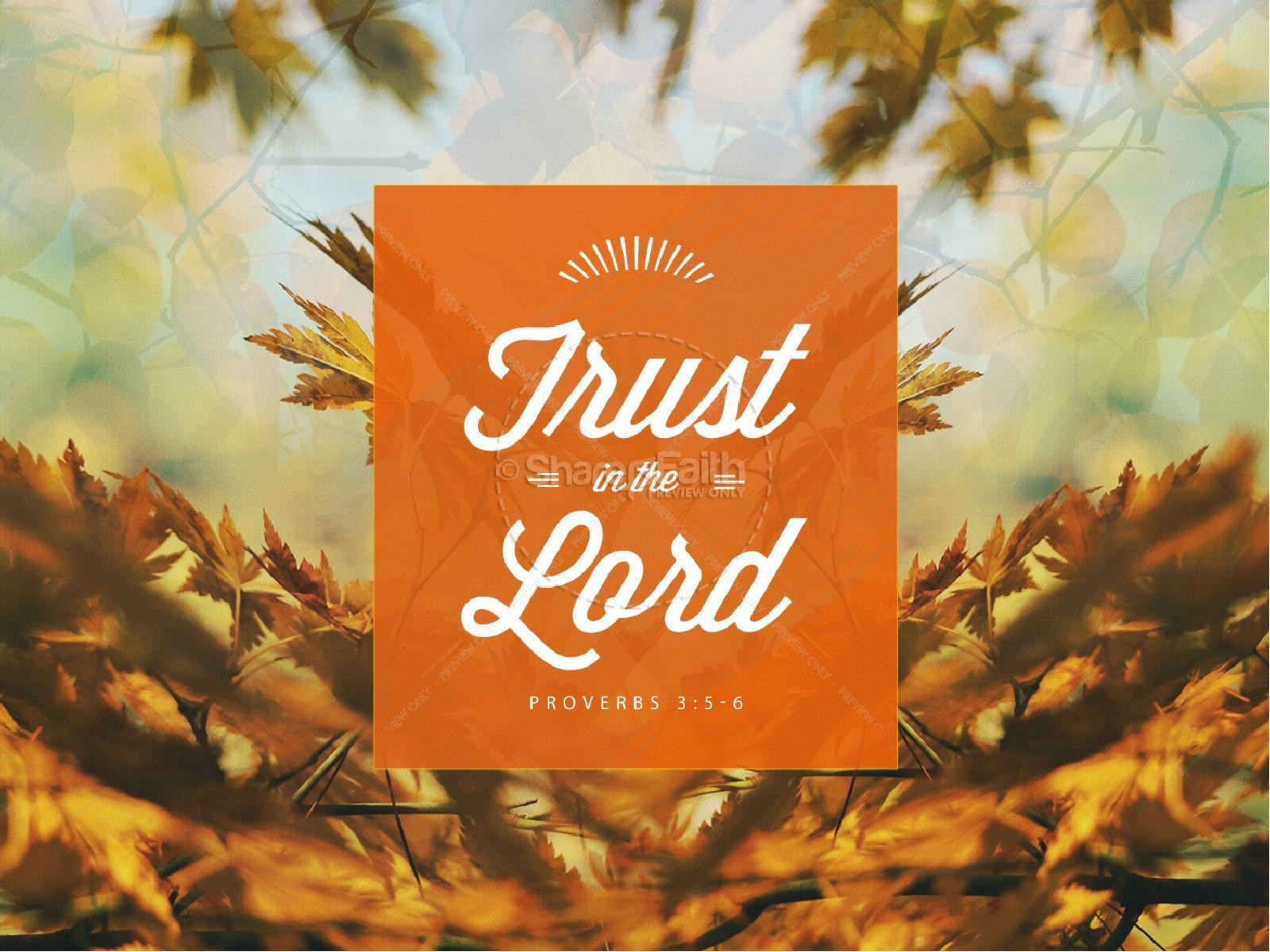 Free Fall Cell Phone Wallpapers Trust In The Lord Ministry Powerpoint