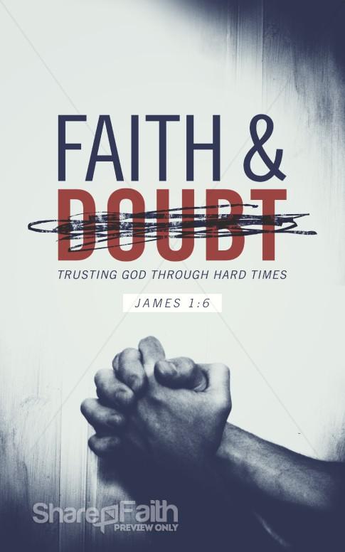 Faith And Doubt Religious Bulletin Sermon Bulletin Covers