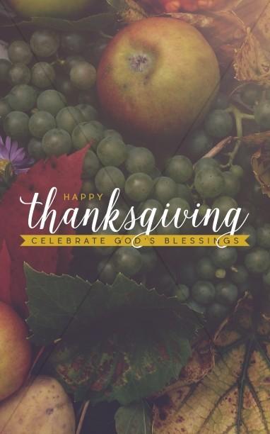 Thanksgiving Celebrate Gods Blessing Religious Bulletin  Thanksgiving Bulletins