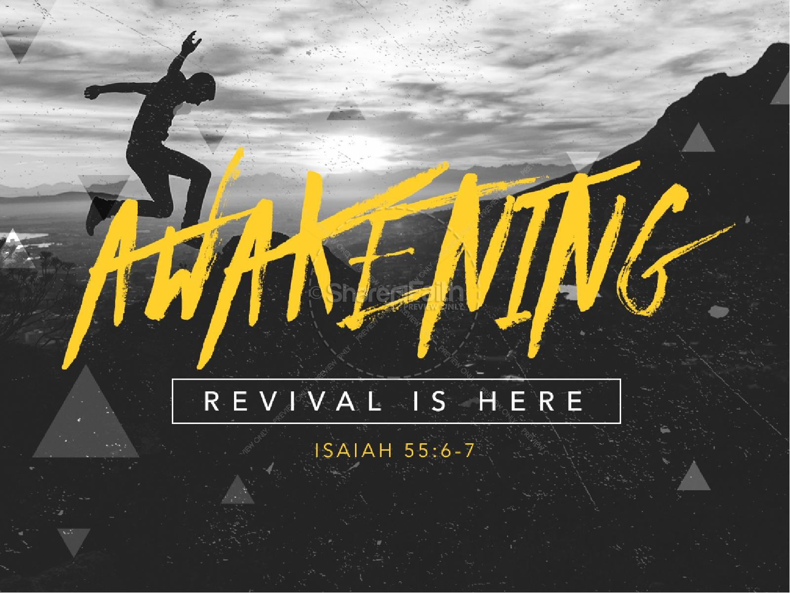 hight resolution of awakening revival is here church powerpoint