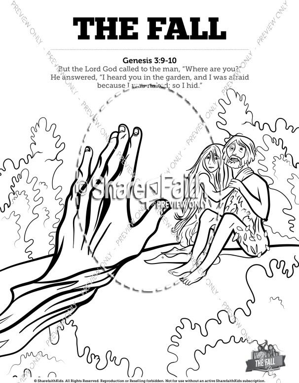 The Fall Of Man Genesis 3 Bible Coloring Pages