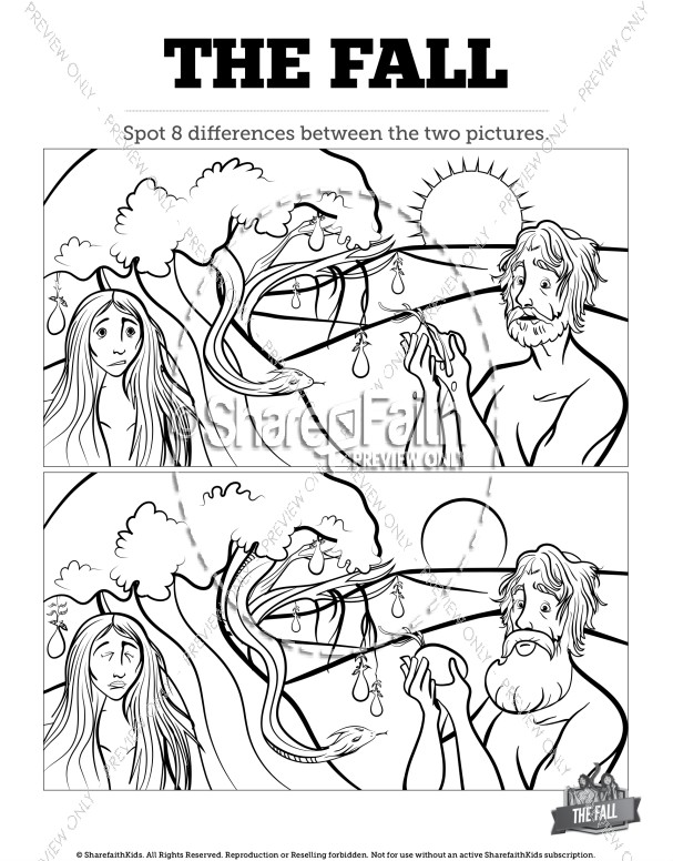 The Fall Of Man Genesis 3 Kids Spot The Difference