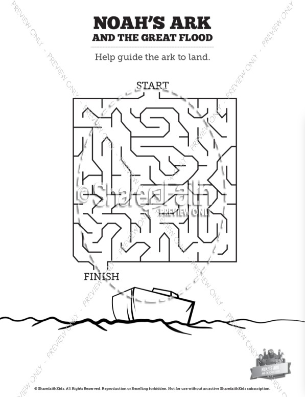 Noahs Ark Flood Bible Mazes Bible Mazes