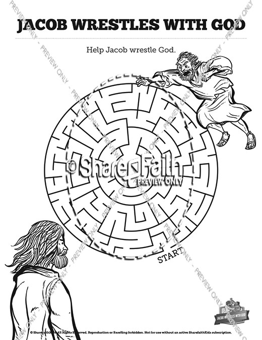 The Story Of Jacob Wrestling With God Sunday School