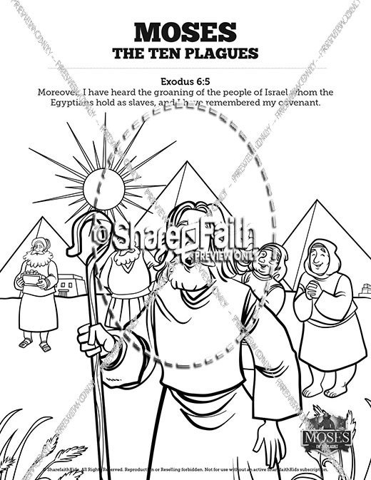 The Ten Plagues Sunday School Coloring Pages For Kids