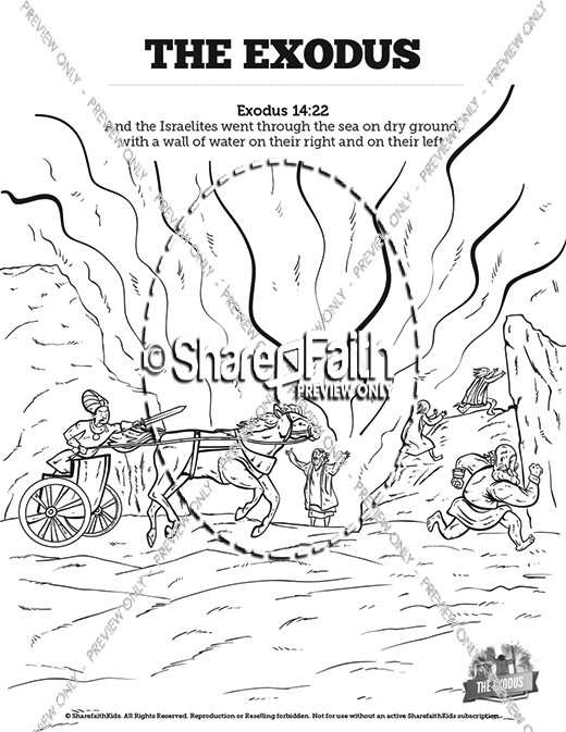 The Exodus Story Sunday School Coloring Pages
