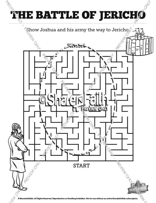 Walls of Jericho Bible Mazes