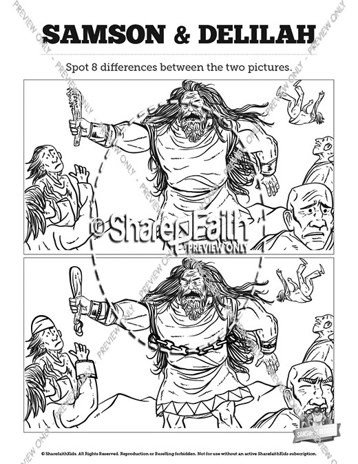 Samson and Delilah Kids Spot The Difference