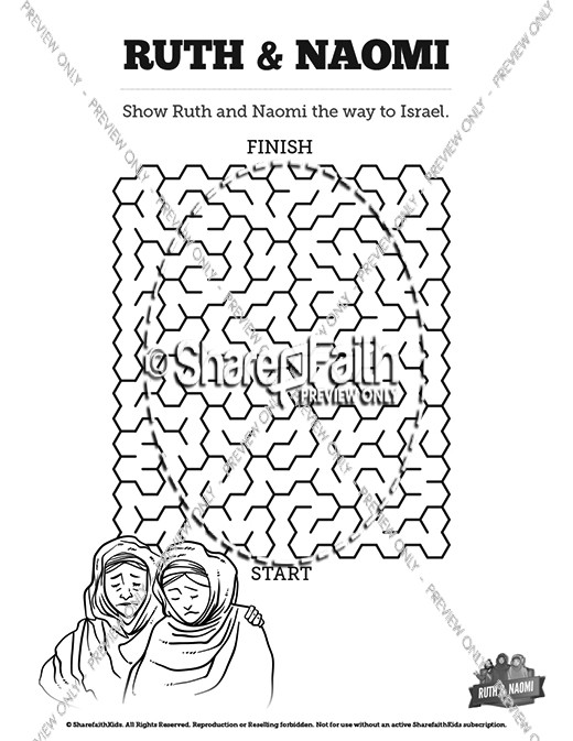 Ruth and Naomi Bible Mazes
