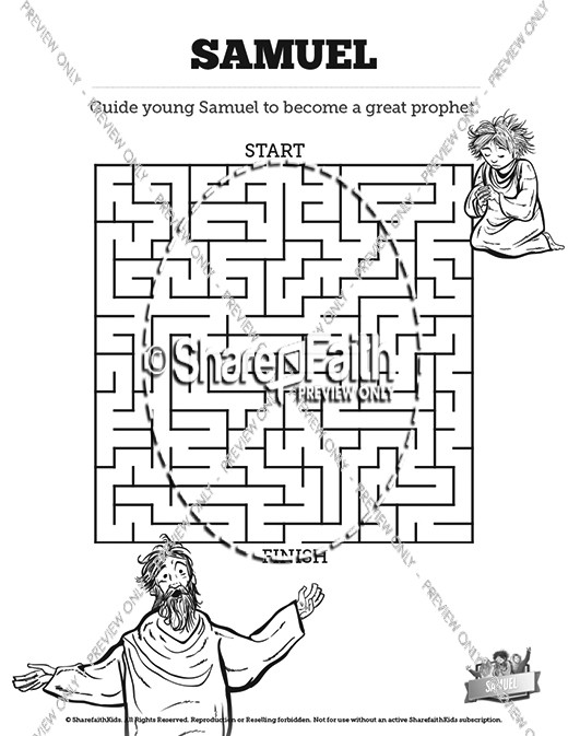 The Story Of Samuel Bible Mazes
