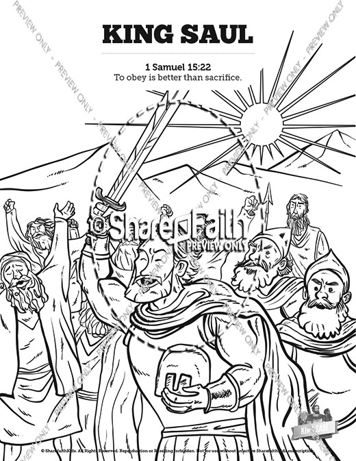 King Saul Coloring Page : coloring, Sunday, School, Coloring, Pages