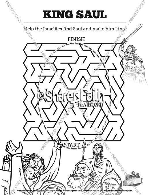 King Saul Bible Mazes