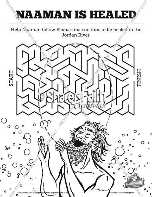 Gehazi And Naaman Coloring Pages Sketch Coloring Page