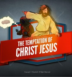 matthew 4 jesus tempted kids bible story [ 1600 x 900 Pixel ]