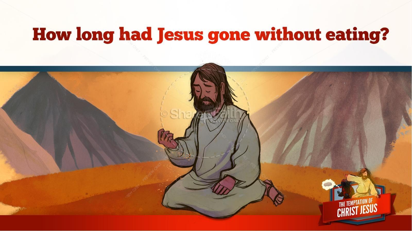 Matthew 4 Jesus Tempted Kids Bible Story