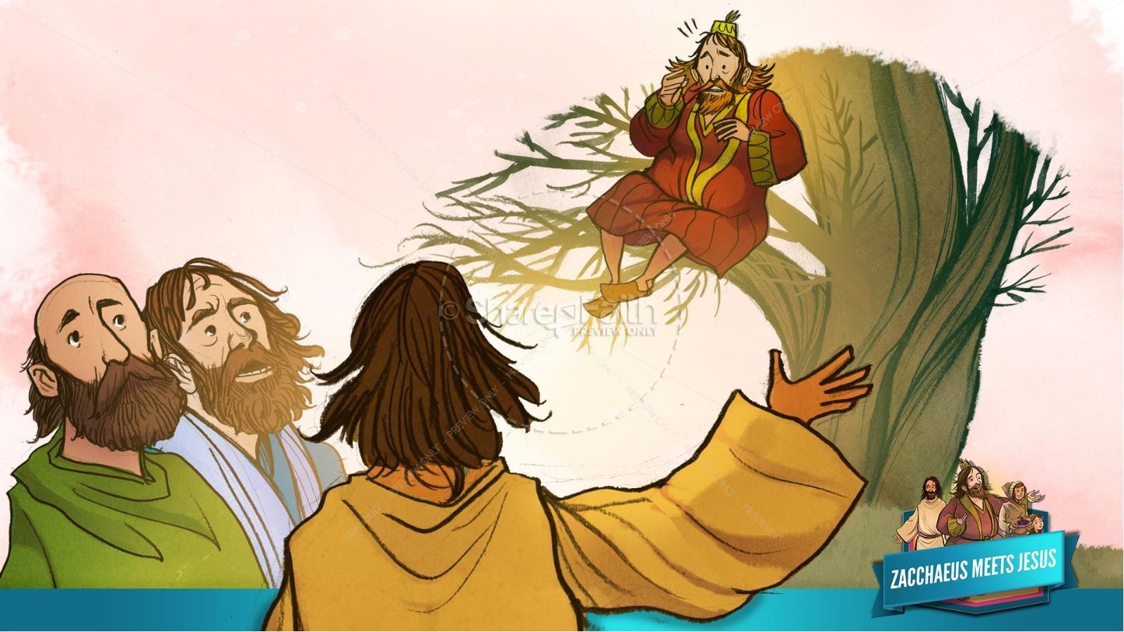 Luke 19 Story Of Zacchaeus Kids Bible Lesson