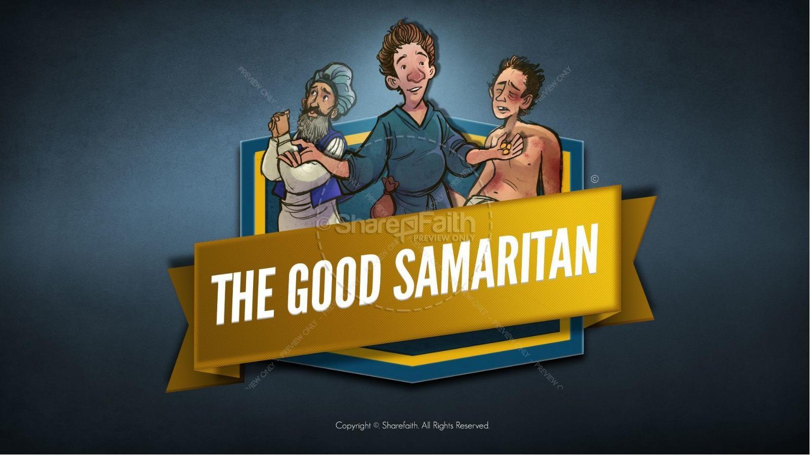 hight resolution of the good samaritan kids bible story