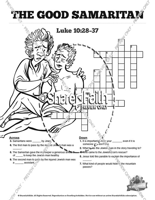 The Good Samaritan Sunday School Crossword Puzzles