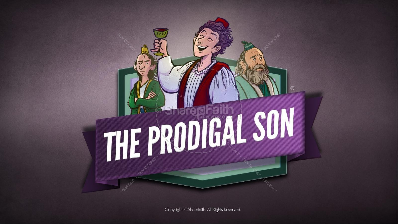 hight resolution of the prodigal son kids bible story