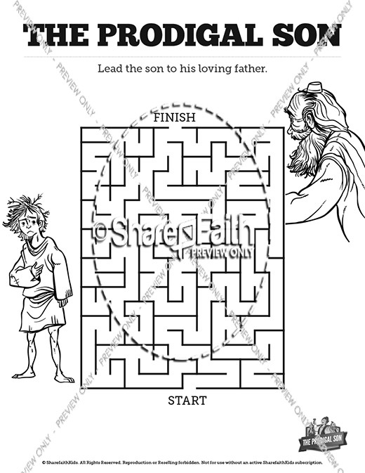 The Prodigal Son Bible Mazes