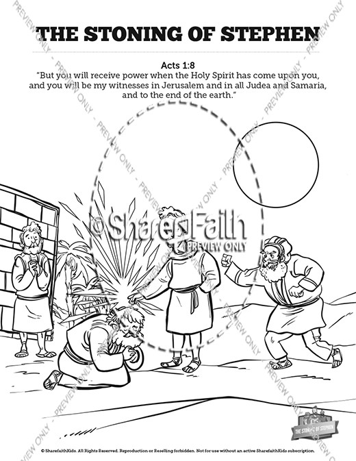 The Stoning of Stephen Sunday School Crossword Puzzles