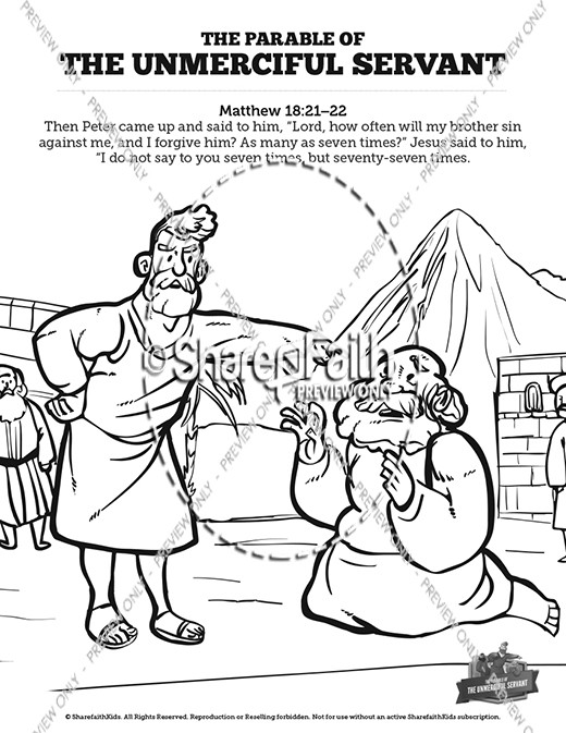 The Parable of the Unforgiving Servant Sunday School