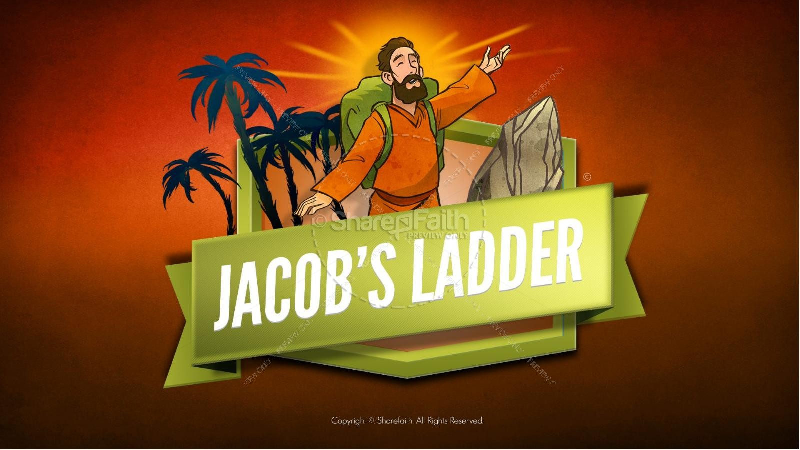 Genesis 28 Jacobs Ladder Kids Bible Story