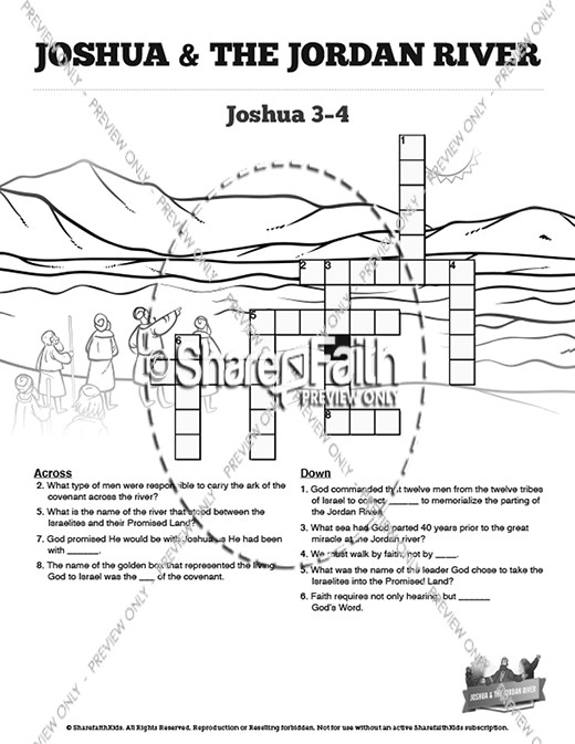 12 Stones Crossing The Jordan River Coloring Pages