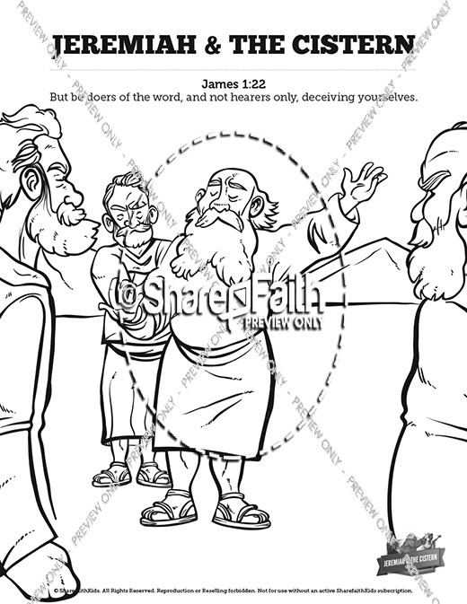 The Prophet Jeremiah Sunday School Coloring Pages