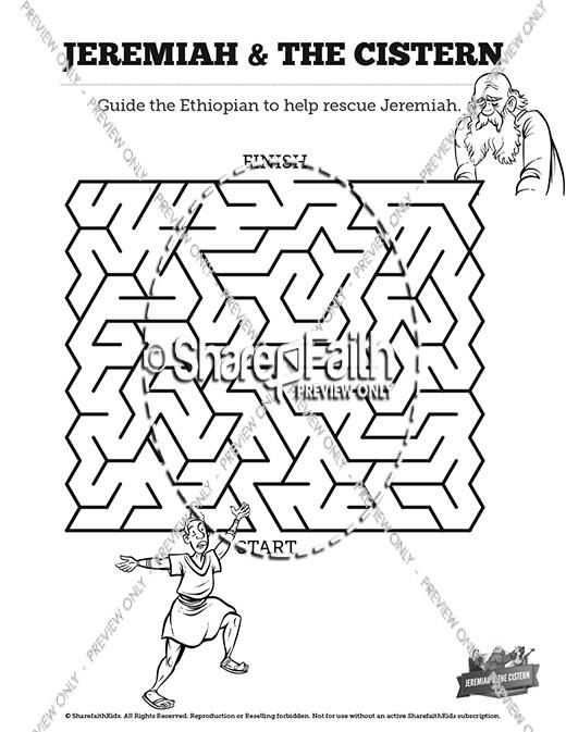 The Prophet Jeremiah Bible Mazes