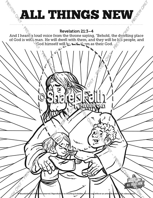 Revelation 21 All Things New Sunday School Coloring Pages