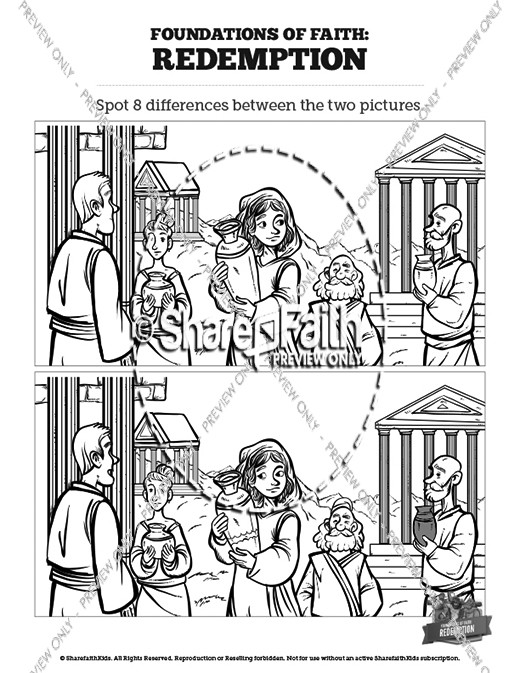 Acts 5 Ananias and Sapphira Kids Spot The Difference