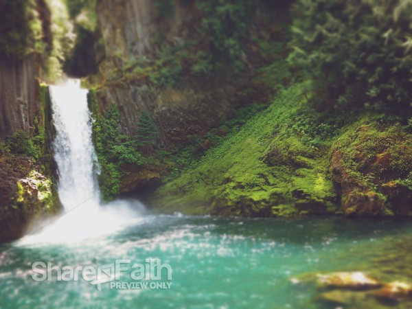 Christian Wallpaper Fall Mountain Waterfall Nature Church Background Worship