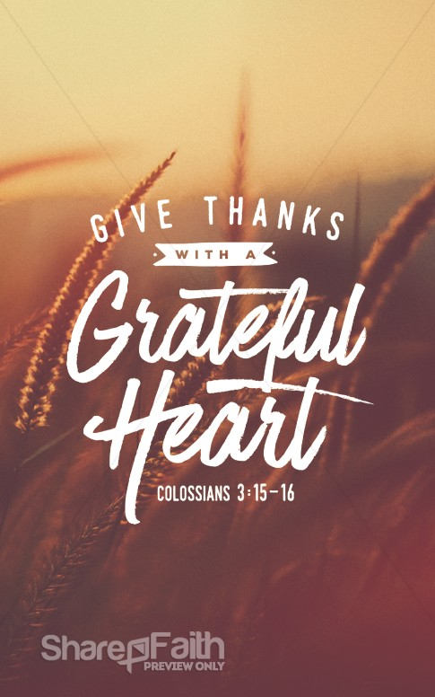 Christian Wallpaper Fall Offering Give Thanks With A Grateful Heart Sermon Bulletin