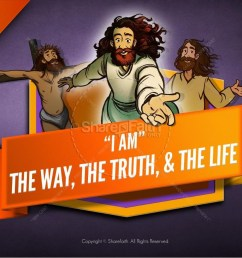 john 14 the way the truth and the life kids bible story [ 1600 x 900 Pixel ]