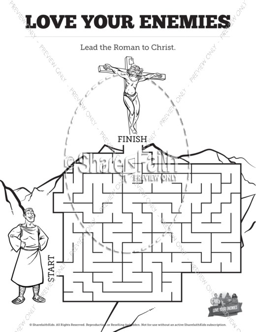 Matthew 5 Love Your Enemies Bible Mazes