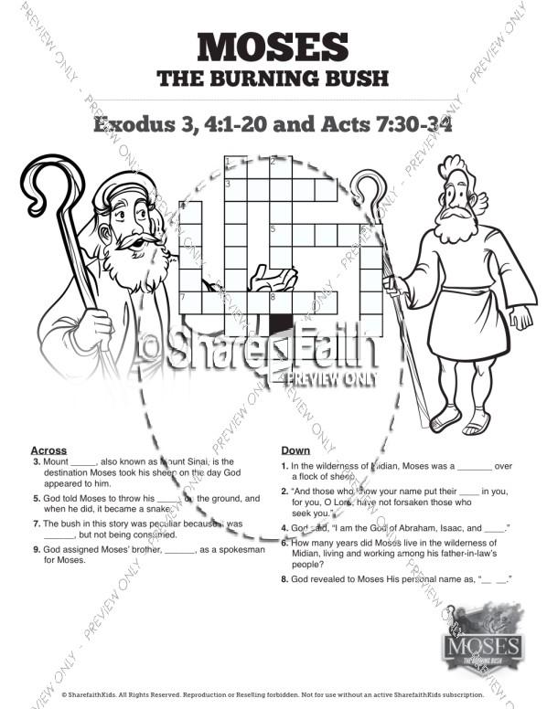 Exodus 3 Moses and the Burning Bush Sunday School