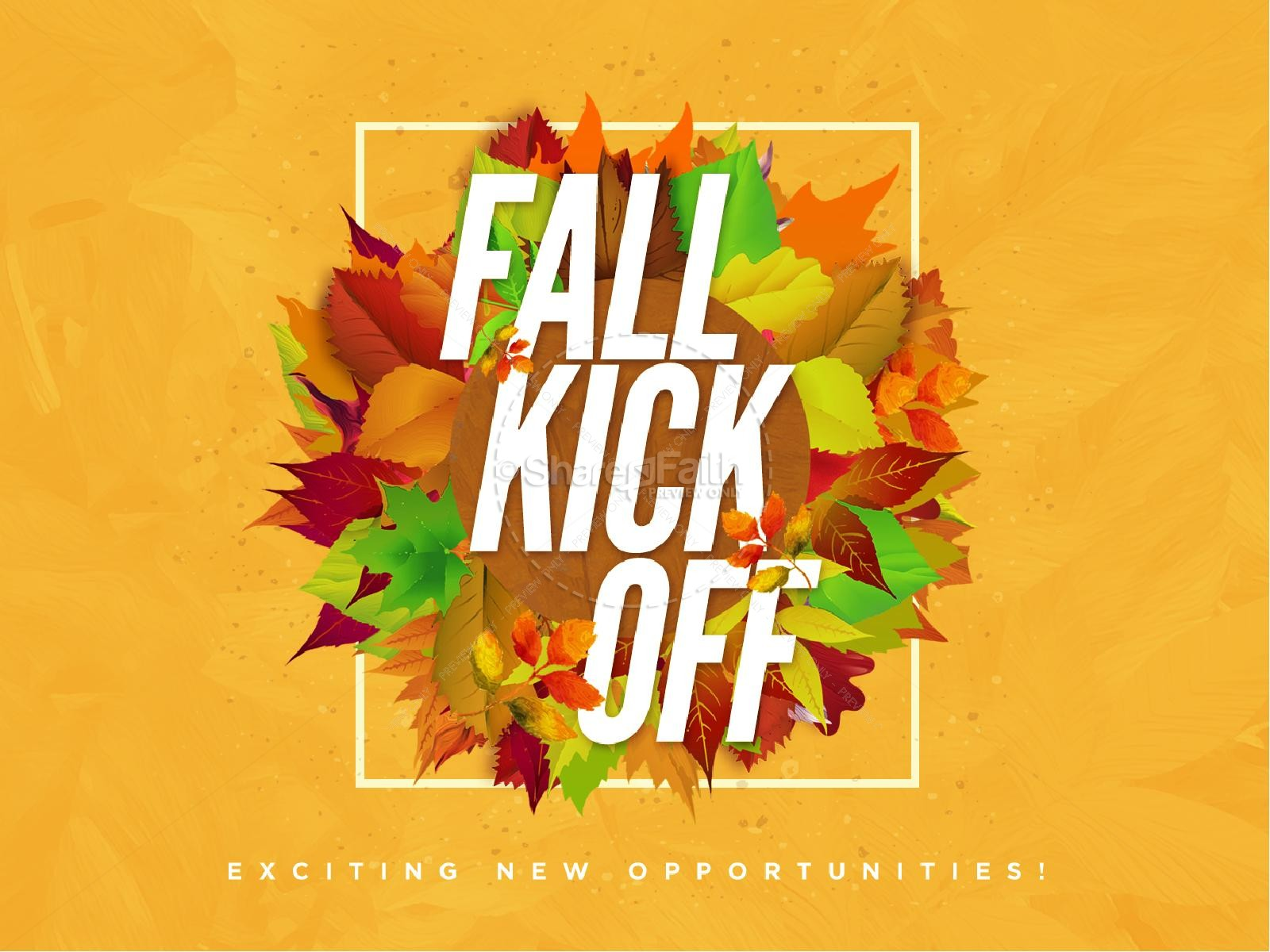 Church Fall Kickoff PowerPoint Template  Fall Thanksgiving PowerPoints
