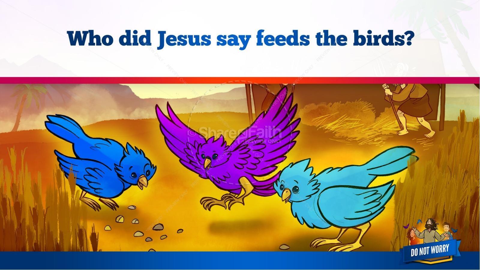 Matthew 6 Do Not Worry Kids Bible Story
