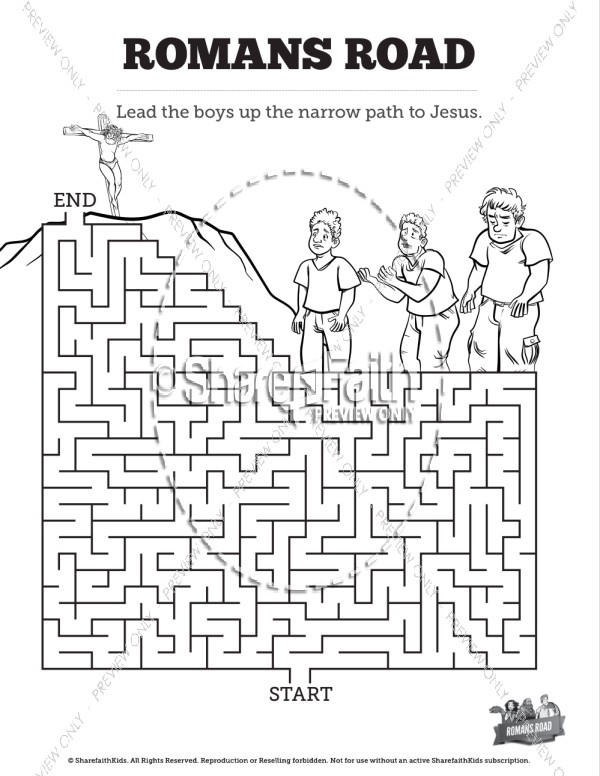 Romans Road Colouring Pages Sketch Coloring Page