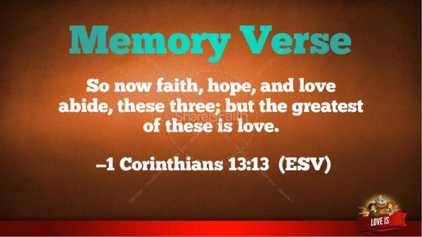 1 Corinthians 13 Love Kids Bible Story