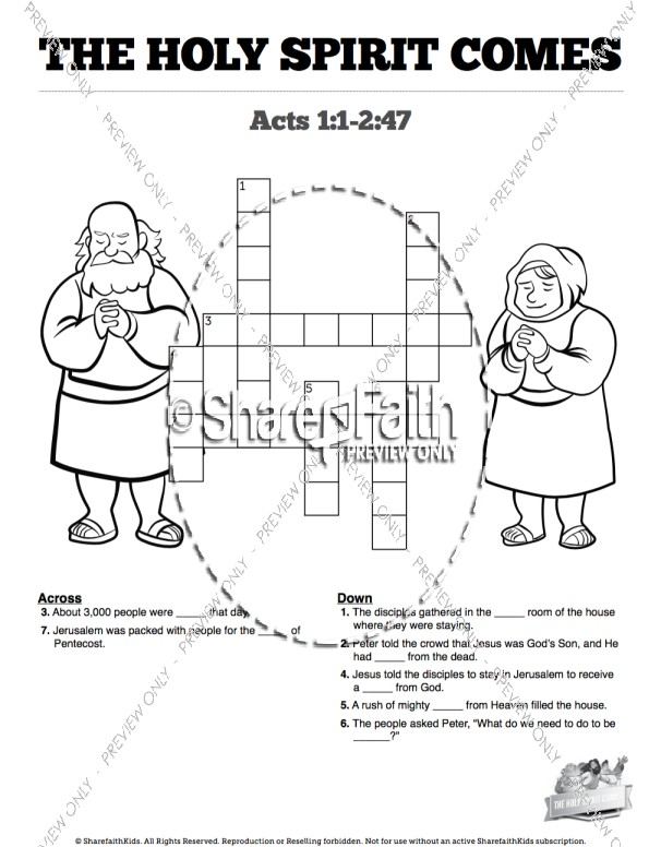 Acts 9 Paul's Conversion Sunday School Crossword Puzzles