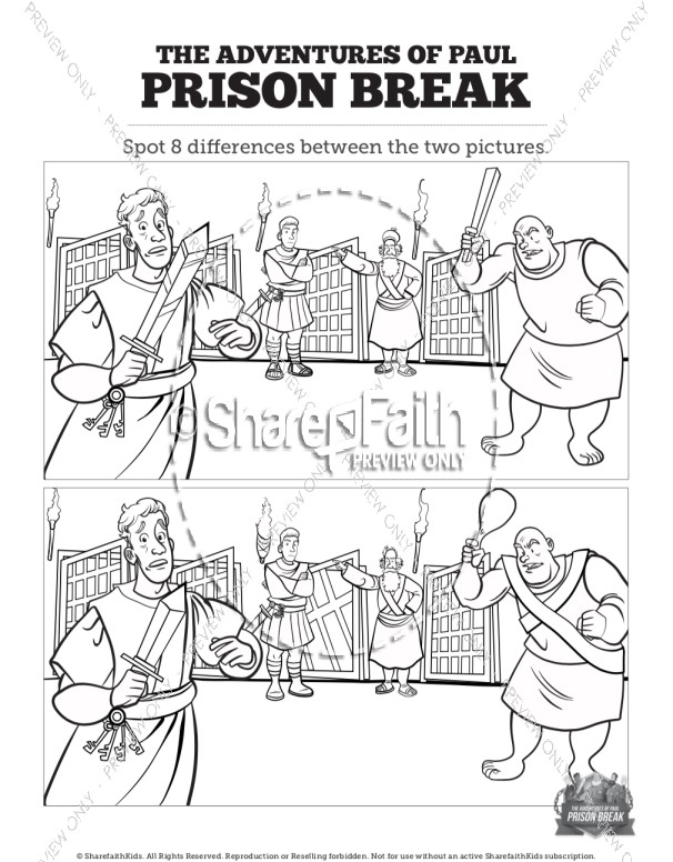 Acts 16 Prison Break Spot the Differences
