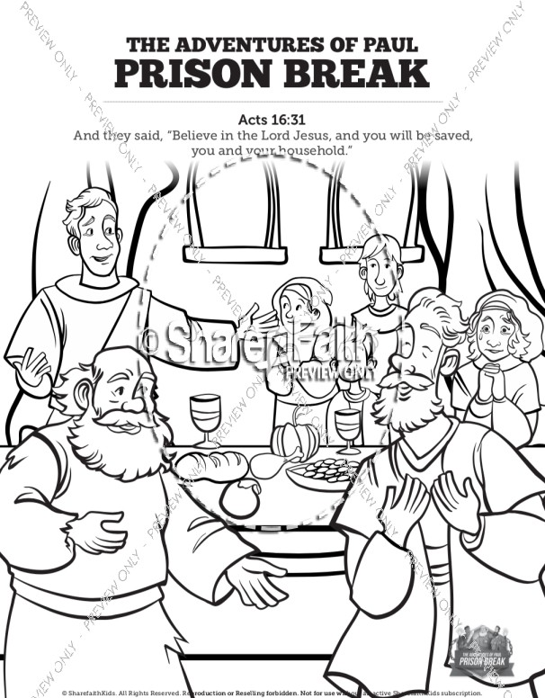 Paul Goes To Prison Acts 16 Activities