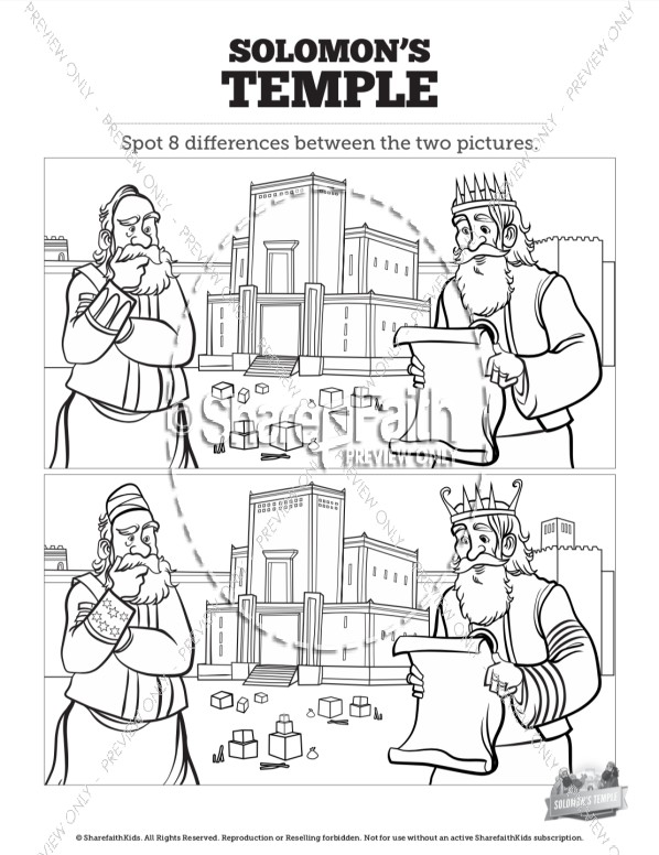 1 Kings 8 Solomon's Temple Spot the Differences