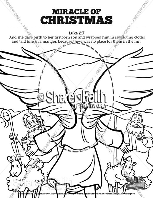 Sunday School Coloring Pages and Bible Coloring Pages for