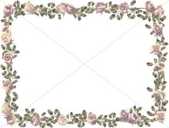 horizontal frame birthday roses borders flower rose spring realistic border corner clipart sharefaith