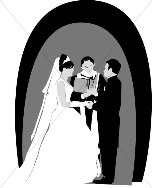 christian wedding clipart