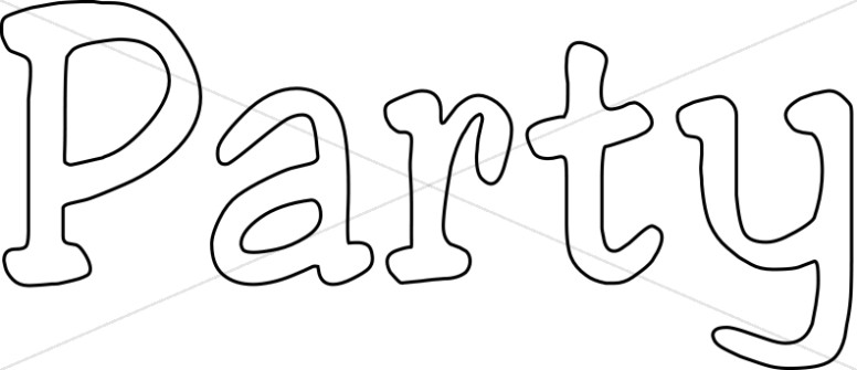 Party Outlined Lettering